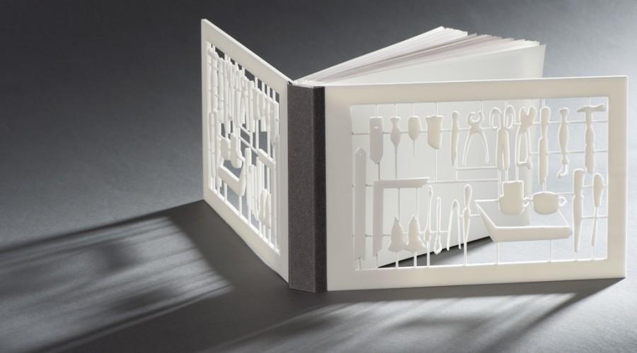 Boekomslag met 3D printer