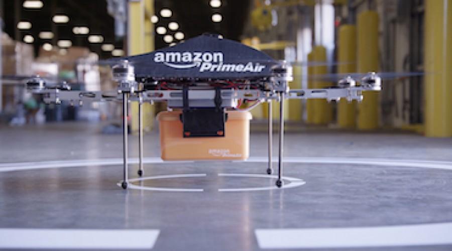 Humor: Amazon gaat met een Drone pakjes bezorgen, ook een idee voor direct mail?
