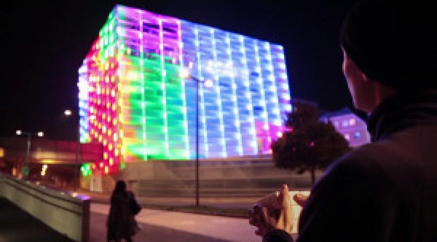 Gebouw wordt Rubiks Cube