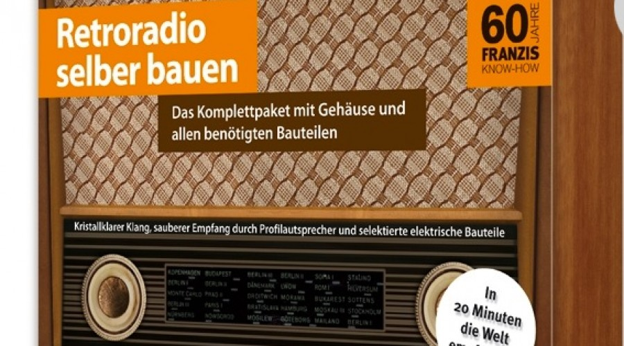 Kartonnen retro radio