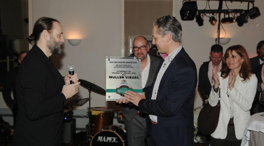 Muller Visual wint Los van Papier Award