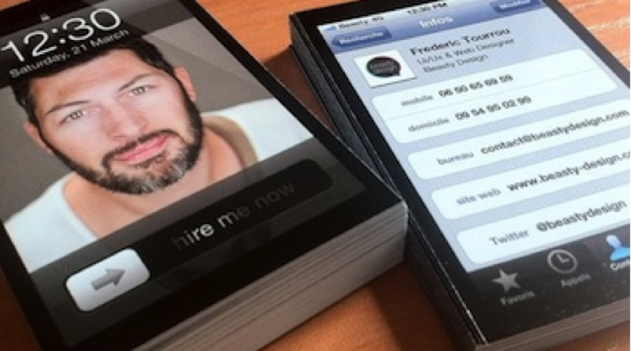 Inspiratie: iPhone-visitekaartjes