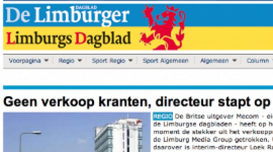 Mecom ziet omzet krantenadvertenties kelderen