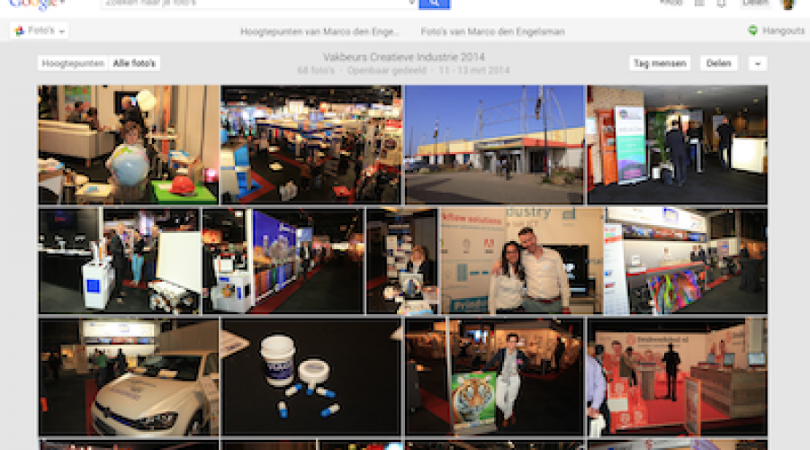 Alle Vakbeurs foto's nu ook te bekijken en downloaden op Google Picassa