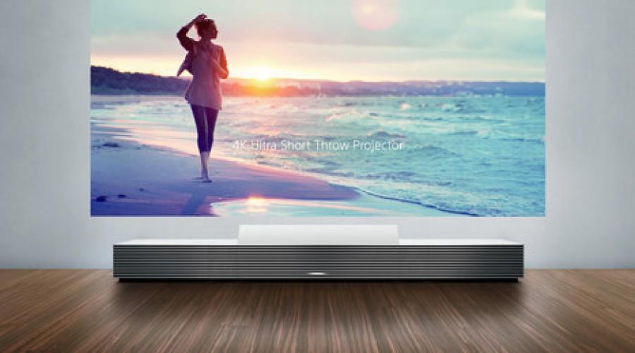 Sony Ultra Short Throw projector maakt van elke muur een 3 meter breed beeldscherm op slechts 17 cm afstand