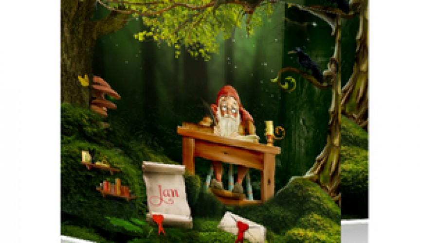 Personaliseren van geboortekaartjes met sprookjesfiguren