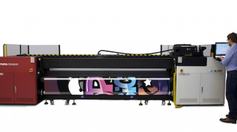 Agfa nieuwe :Anapurna M3200i RTR dubbel rol LFP print 123 m2/uur in highres en nu ook op gaasdoek