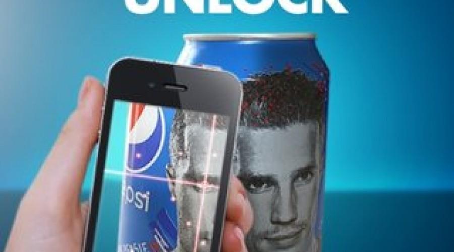 Bewegende Van Persie op Pepsi blikjes