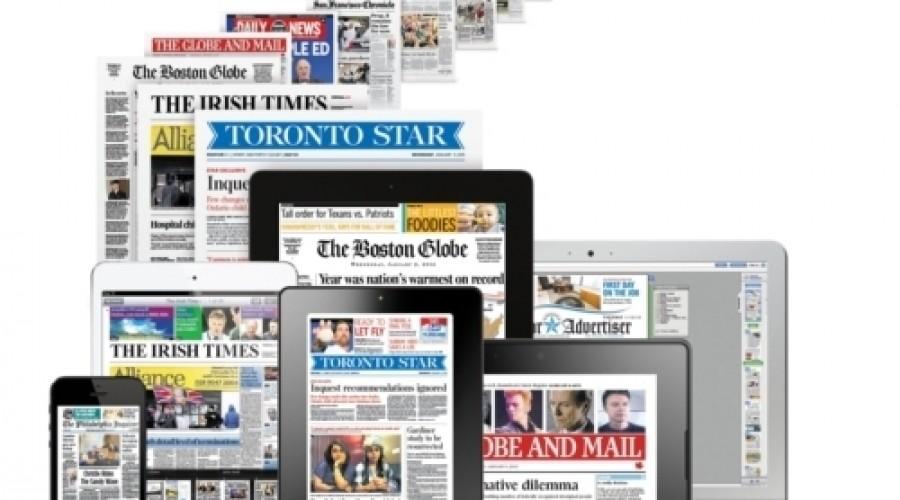 Verschuiving papieren naar digitale kranten zet door