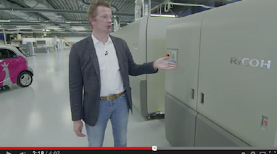 Ricoh's Production Inkjet techniek verandert de toekomst van de grafische industrie, te beginnen in het noorden