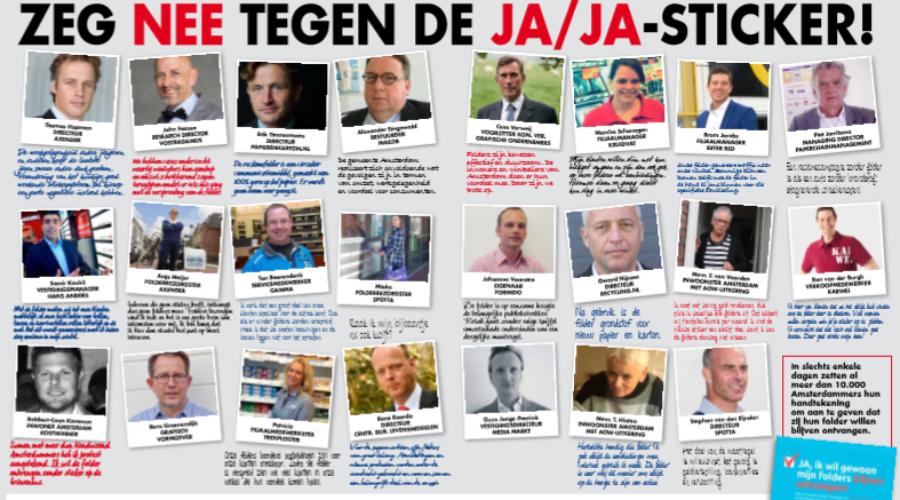Verspreiders en grafische bedrijfstak teleurgesteld over onbegrijpelijke uitspraak JAlJA-sticker