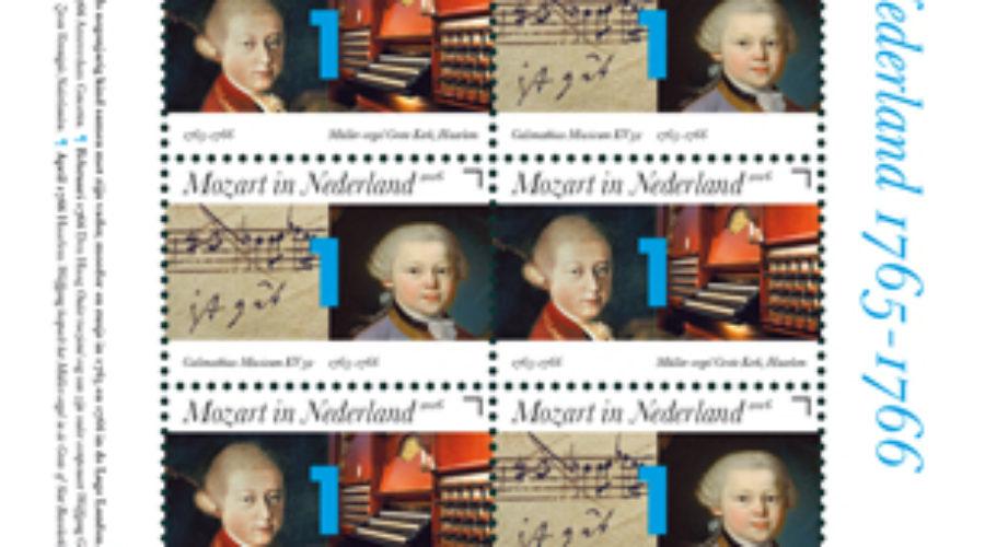 Verblijf Mozart in Nederland herdacht met postzegelvel