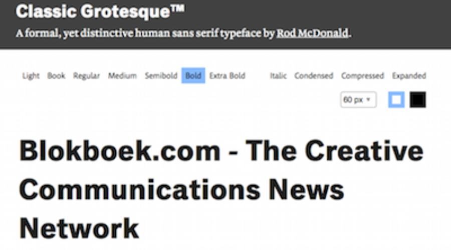 Grotesque: De comeback van een 110 jaar oud lettertype