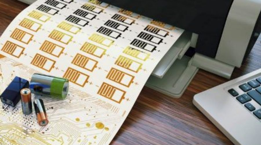 Batterijen printen op gewone inkjetprinter