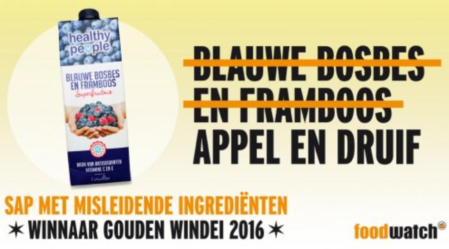 Consument kiest sapje als meest misleidende marketingproduct 2016