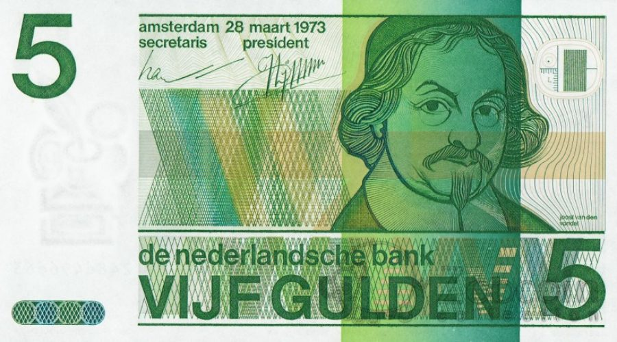 Bedenker bankbiljetten overleden