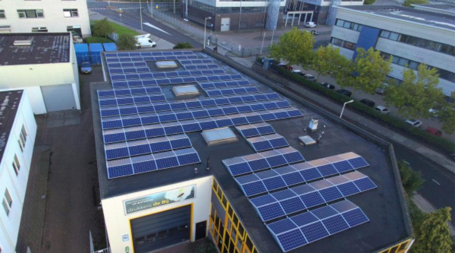 Drukken op zonne-energie