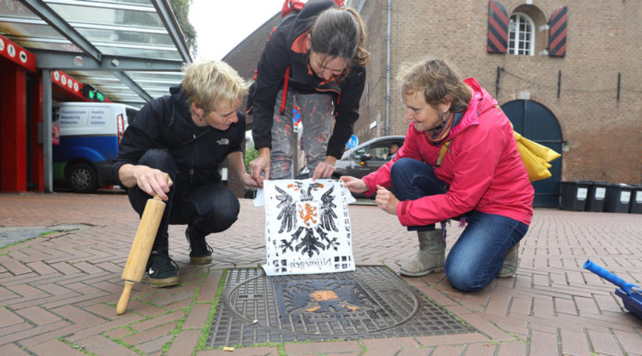 Manhole covers perfect for printing t-shirts
