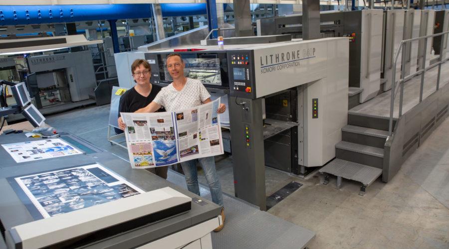 Nieuwe achtkleuren drukpers voor Veldhuis Media
