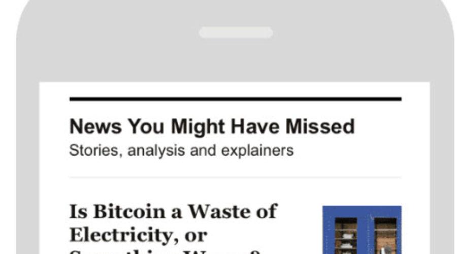 New York Times lanceert z'n eerste gepersonaliseerde nieuwsbrief