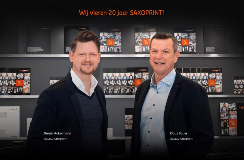 directeuren van SAXOPRINT Klaus Sauer en Daniel Ackermann