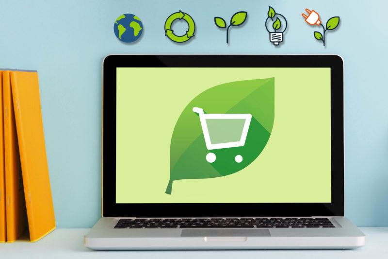 groene winkelwagen onlineprinters