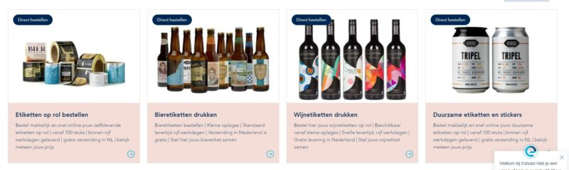 Voorbeeld Producten Webshop Eshuis