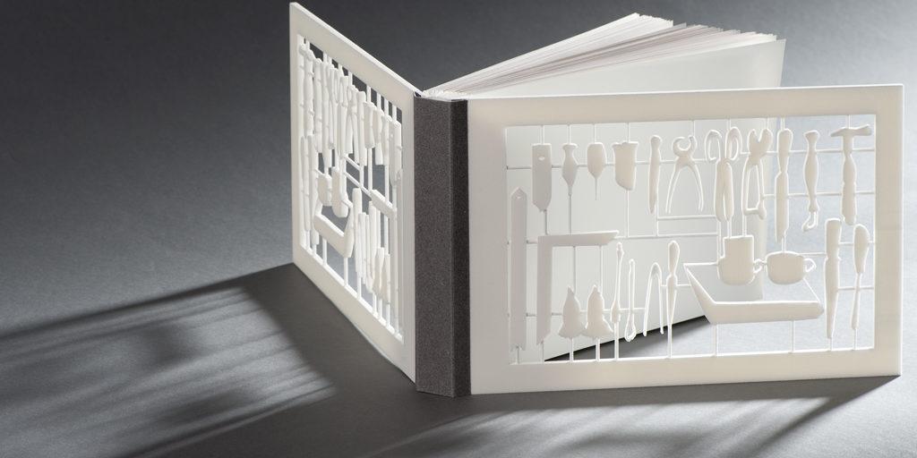 Facsimile met 3D printing voorplat en achterplat
