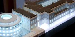 Architectuur maquette in 3d geprint voor project Ancien Thermen in Spa Belgie door Archi.des o.a. te zien tijdens de 3d Industrie Expo in Haarlem (lr)