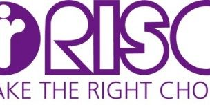 Logo RISO klein with MAKE THE RIGHT CHOICE